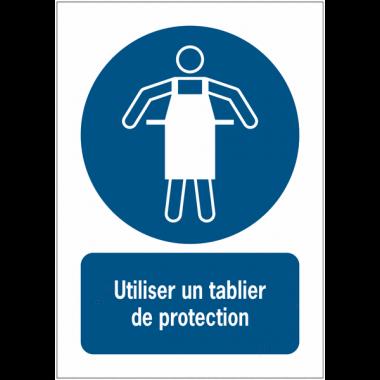 Panneaux NF EN ISO 7010 A3/A4/A5 Tablier de protection obligatoire - M026