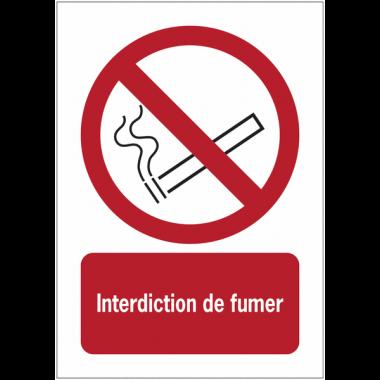 Panneaux NF EN ISO 7010 A3/A4/A5 Interdiction de fumer - P002