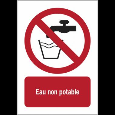 Panneaux NF EN ISO 7010 A3/A4/A5 Eau non potable - P005