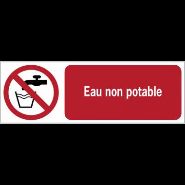 Panneaux ISO 7010 horizontaux Eau non potable - P005