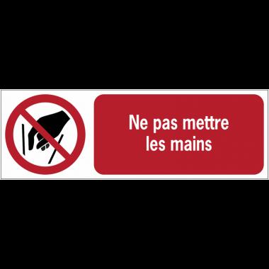 Panneaux ISO 7010 horizontaux Ne pas mettre les mains - P015