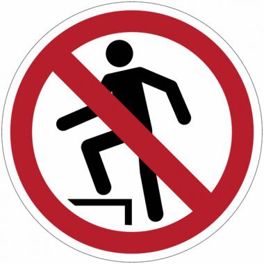 Pictogramme ISO 7010 en rouleau Interdiction de marcher sur la surface - P019