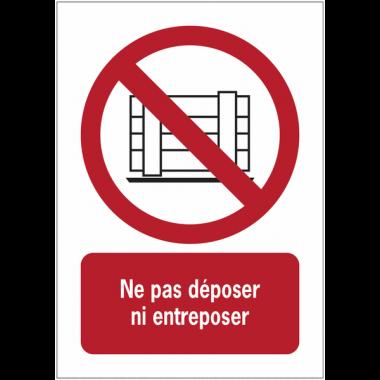Panneaux NF EN ISO 7010 A3/A4/A5 Ne pas obstruer - P023