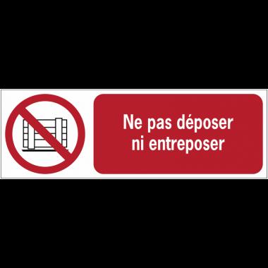 Panneaux ISO 7010 horizontaux Ne pas obstruer - P023