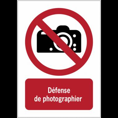 Panneaux NF EN ISO 7010 A3/A4/A5 Interdiction de photographier - P029