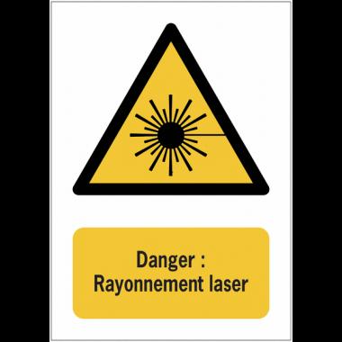 Panneaux NF EN ISO 7010 A3/A4/A5 Danger Rayonnement laser - W004