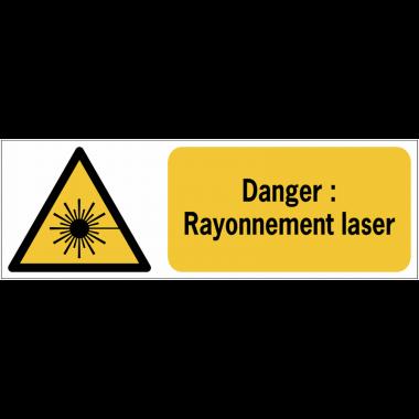 Panneaux ISO 7010 horizontaux Danger Rayonnement laser - W004
