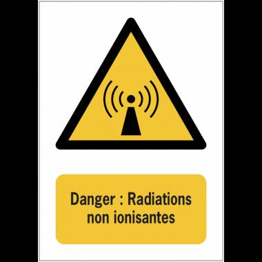 Panneaux NF EN ISO 7010 A3/A4/A5 Danger Radiations non ionisantes - W005