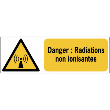 Panneaux ISO 7010 horizontaux Danger Radiations non ionisantes - W005