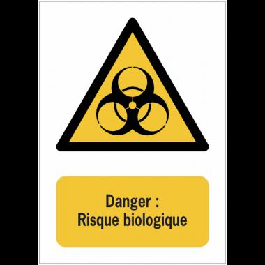 Panneaux NF EN ISO 7010 A3/A4/A5 Danger Risque biologique - W009