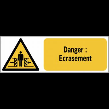 Panneaux ISO 7010 horizontaux Danger Ecrasement - W019