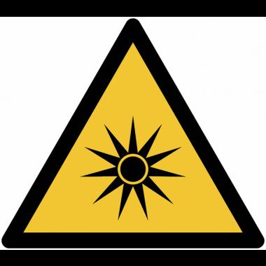 Pictogramme ISO 7010 en rouleau Danger Rayonnement optique - W027