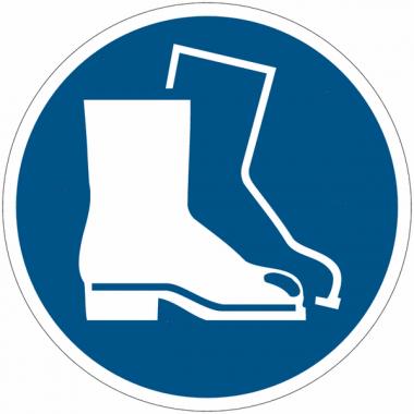 """Panneaux autocollants Quick-Fix """"Chaussures de sécurité obligatoires"""""""