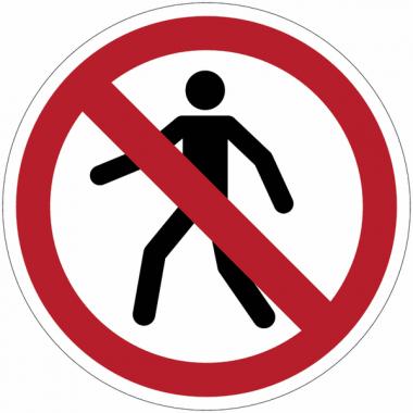 """Panneaux autocollants Quick-Fix """"Interdit aux piétons"""""""