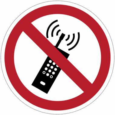 Pictogrammes NF EN ISO en aluminium Interdiction d'activer des téléphones mobiles