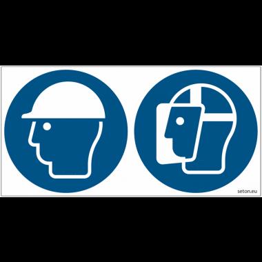 Pictogrammes ISO 7010 Casque & Visière de protection