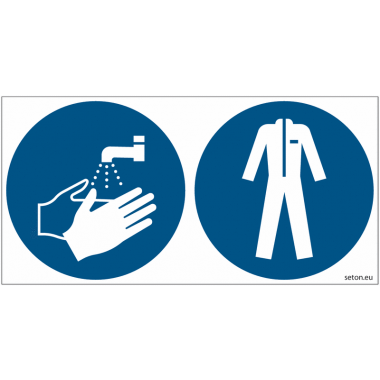 Pictogrammes ISO 7010 Lavage mains & vêtements protection