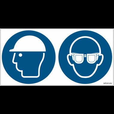 Pictogrammes ISO 7010 Casque & Lunettes obligatoires