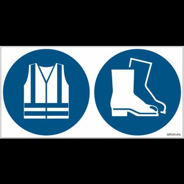 Pictogrammes ISO 7010 Gilets & chaussures de sécurité
