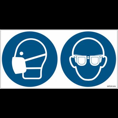 Pictogrammes ISO 7010 Masque et lunettes obligatoires