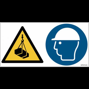 Pictogrammes ISO 7010 Charges suspendues, casque obligatoire