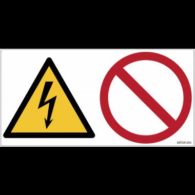 Pictogrammes ISO 7010 Danger électrique, interdiction générale