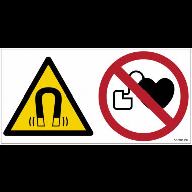 Pictogrammes ISO 7010 Champs magnétique, stimulateur cardiaque