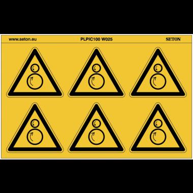 """Pictogrammes en planche NF EN ISO 7010 """"Danger Rouleaux contrarotatifs"""" W025"""