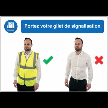 Autocollants et panneaux bonnes pratiques - Portez votre gilet de signalisation