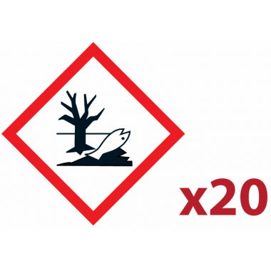 """Pack 20 pictogrammes CLP """"Danger pour le milieu aquatique"""""""