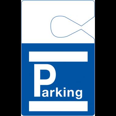 Badges parking personnalisables en PVC à suspendre au rétroviseur