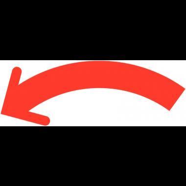 Flèches pour sens d'ouverture/fermeture auto-adhésives