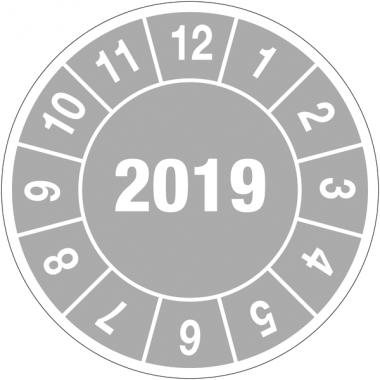 Pastilles calendrier rondes année complète en polyster laminé
