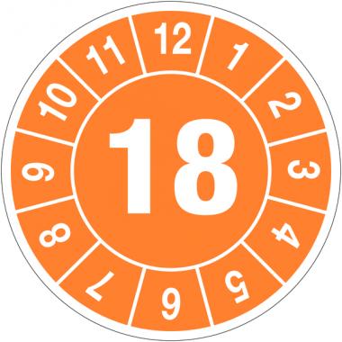 Pastilles calendrier rondes année simple en tissu plastifié