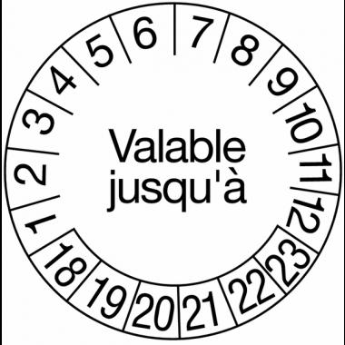 Pastilles calendrier rondes avec texte tranfert à sec
