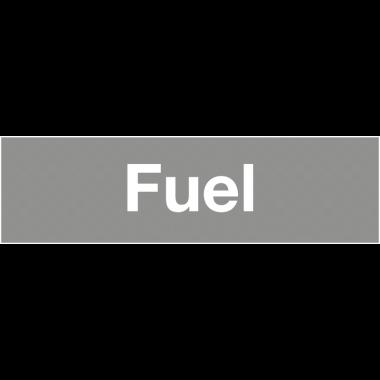 "Marqueurs de tuyauteries adhésifs transparent  ""Fuel"" (Liquides inflammables)"