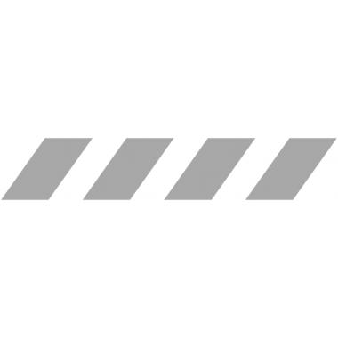Bande de signalisation aspect givré pour surfaces vitrées