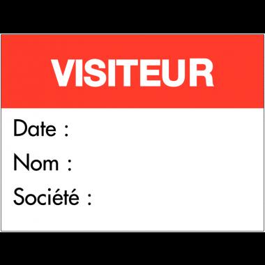 """Badges adhésifs """"Visiteur"""""""
