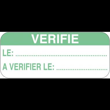 Etiquettes d'inspection standards en vinyle