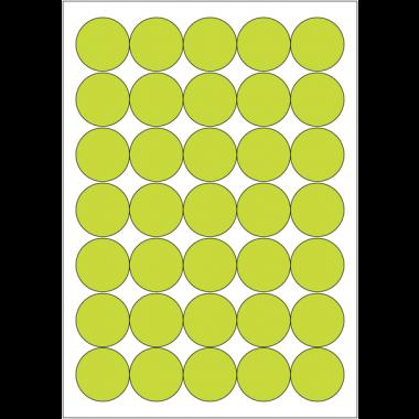 Pastilles vierges en papier multi-usages fluorescentes