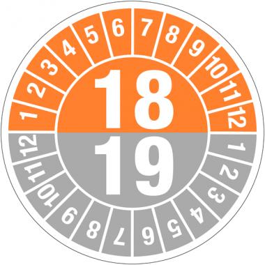 Pastilles calendrier rondes double année en polyester laminé