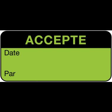Etiquettes d'inspection standards fluorescentes en papier à compléter