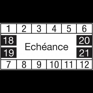 Pastilles calendrier rectangulaires avec texte