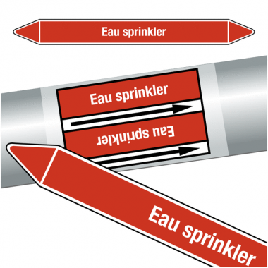 "Marqueurs de tuyauteries CLP ""Eau sprinkler"" (Incendie)"