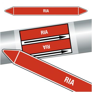 "Marqueurs de tuyauteries CLP ""RIA"" (Incendie)"