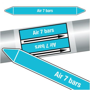 """Marqueurs de tuyauteries CLP """"Air 7 bars"""" (Air)"""
