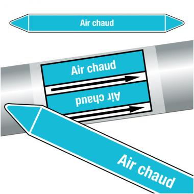 """Marqueurs de tuyauteries CLP """"Air chaud"""" (Air)"""