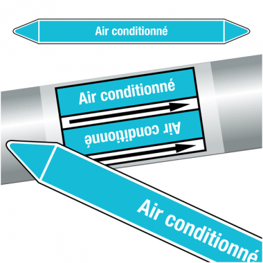 "Marqueurs de tuyauteries CLP ""Air conditionné"" (Air)"