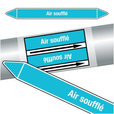 """Marqueurs de tuyauteries CLP """"Air soufflé"""" (Air)"""