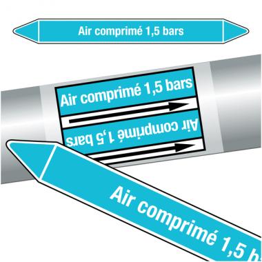 """Marqueurs de tuyauteries CLP """"Air comprimé 1,5 bars"""" (Air)"""